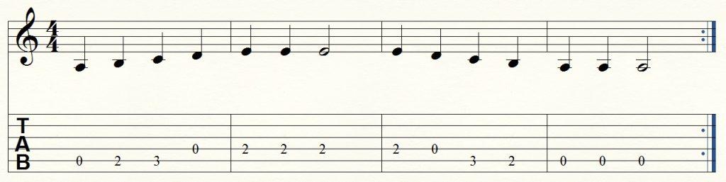 ejercicio de guitarra para principiantes 10