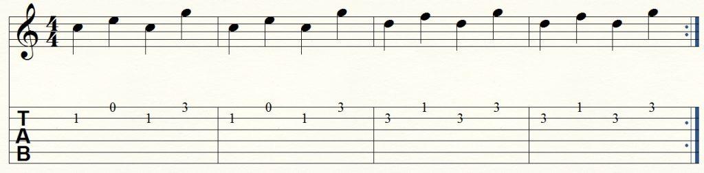 ejercicio de guitarra para principiantes 2