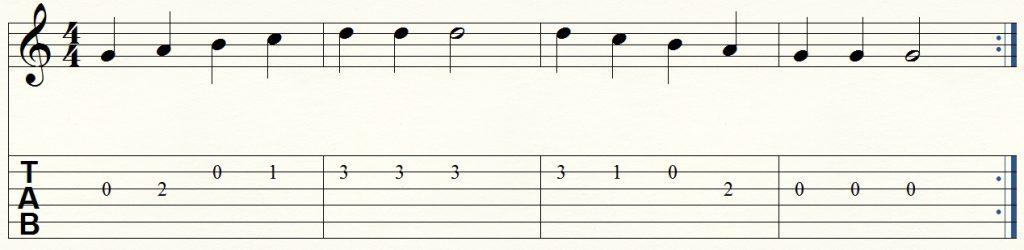 ejercicio de guitarra para principiantes 3