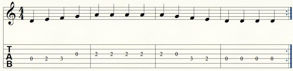 ejercicio de guitarra para principiantes 6