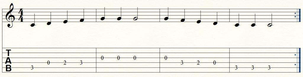 ejercicio de guitarra para principiantes 9