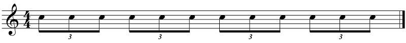 figuras rítmicas tresillos