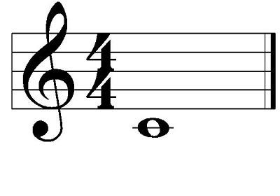 la nota do en el pentagrama se coloca debajo de la primera línea con una línea adicional encima de la nota.